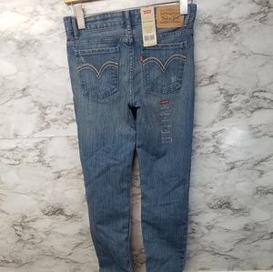 Levis Girls Boyfriend Jeans 10reg Blue Skinny New